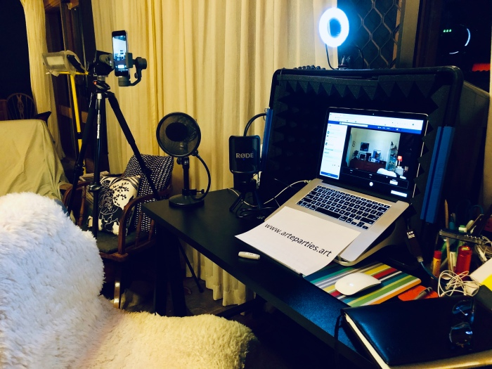 Set up to livestream events for the F50 festival on ART e-Parties